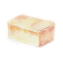 食パンのイラスト画像206px-206px