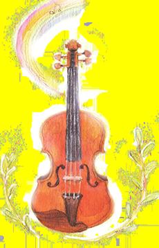 バイオリンのイラスト画像230px-358px